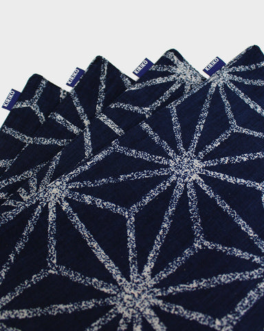 Table Mat Set of 4, Indigo Asanoha