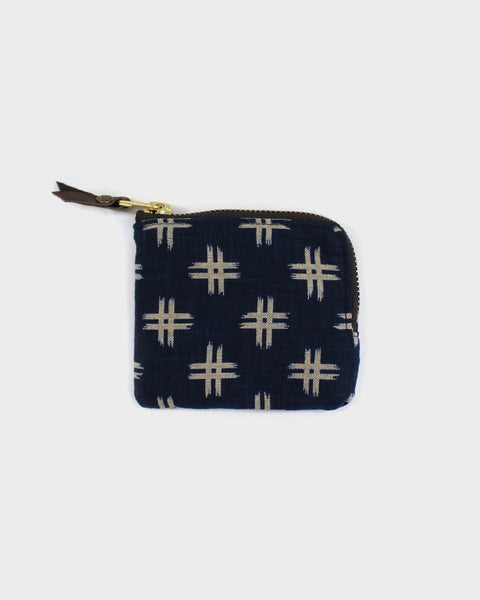 Zipper Wallet, Indigo Igeta