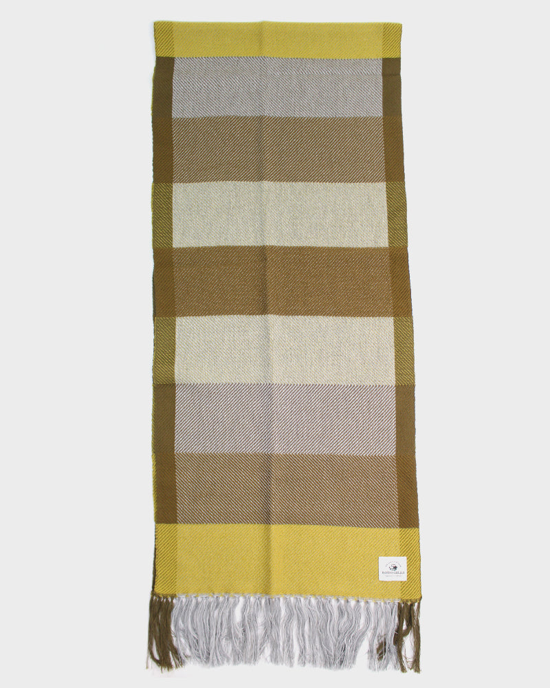 Kobo Oriza, Twill Weave, Stripes, Yellow Khaki