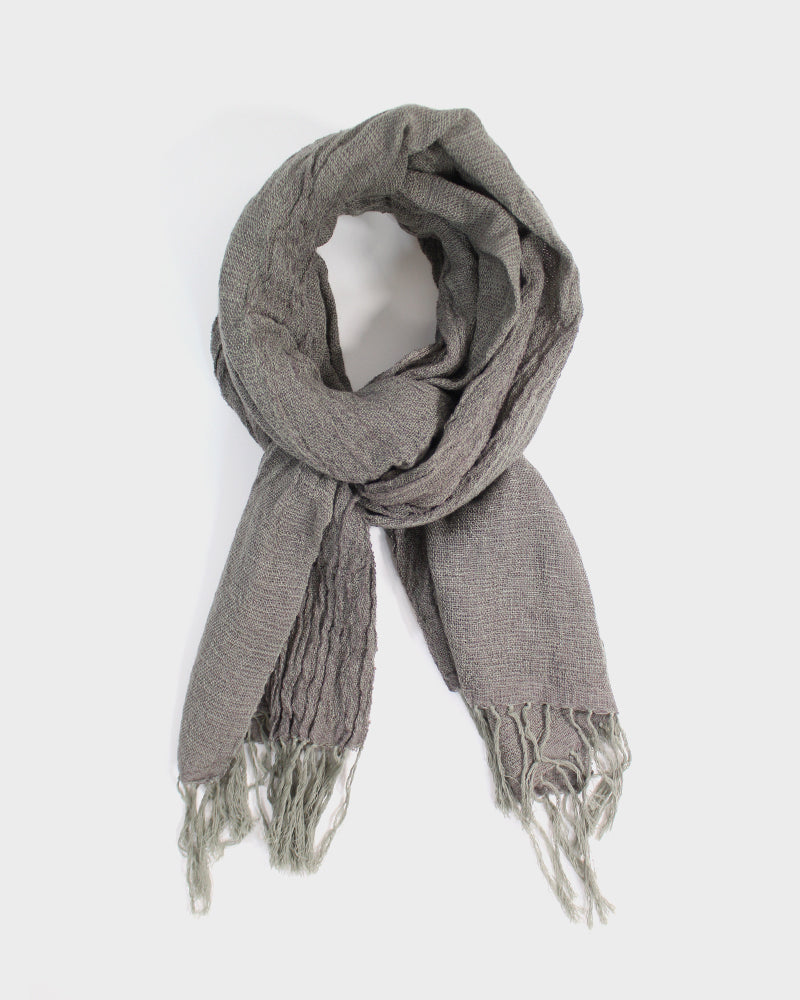 Kobo Oriza Wool Blend, Wavy Shawl, Khaki Brown