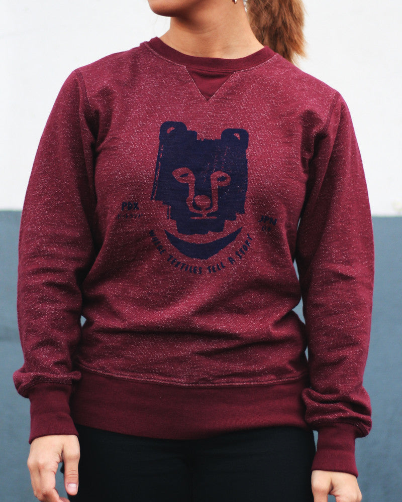 French Terry Sweatshirt, Burgundy