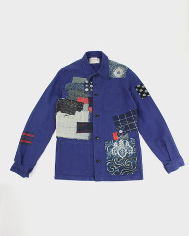 One of a Kind Boro Patched Vintage French Workman Jacket 03