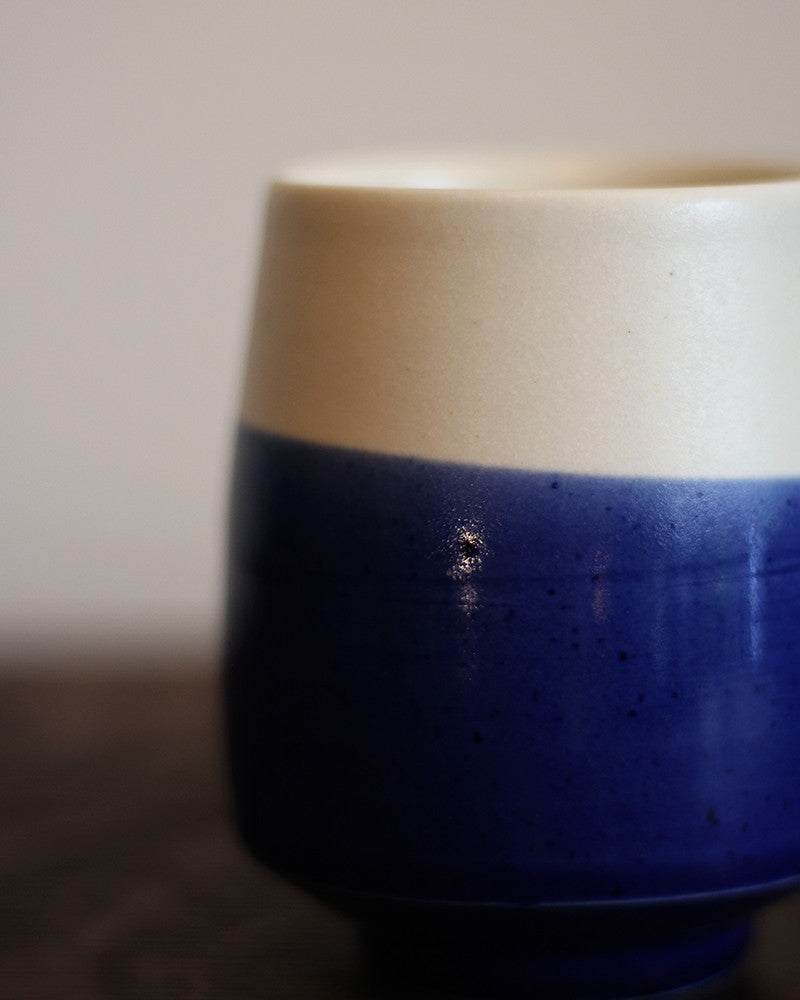 Kelly Pottery, Yunomi Dipped Ocean Blue