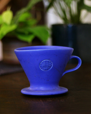 Kelly Pottery, Matte Blue Ceramic Drip Coffee Filter