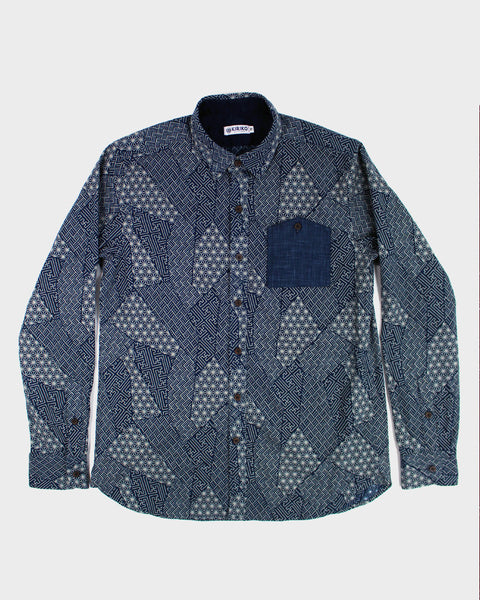 Button-Up Shirt Long Sleeve Multi Pattern