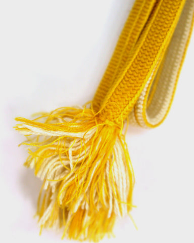 Vintage Obijime Belt, Yellow
