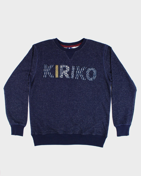 Patched Navy 'KIRIKO' Sweatshirt