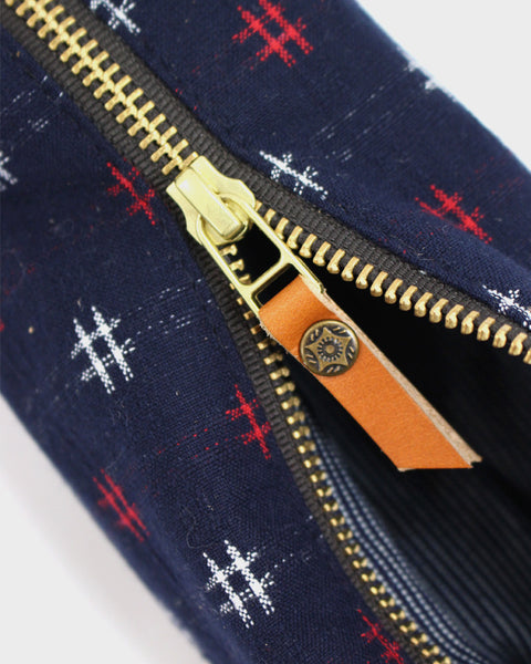 Pencil Pouch, Midnight Kasuri Cross