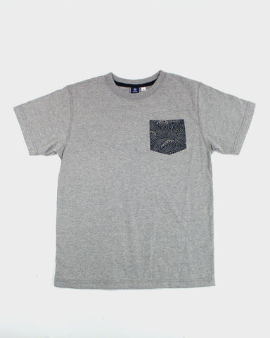 9oz Pocket Tee, Gray