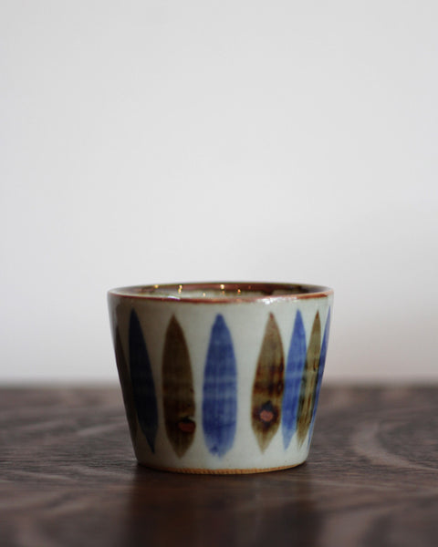 Minoyaki Hand-painted Trees Tea Cup