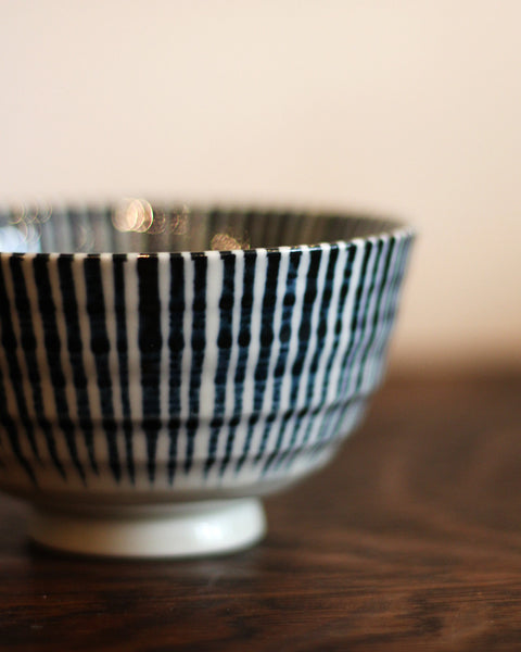Mino-Yaki Vertical Stripes Bowl