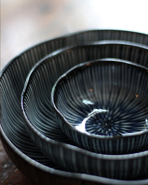 Hasami-Yaki Shaped Medium Bowl