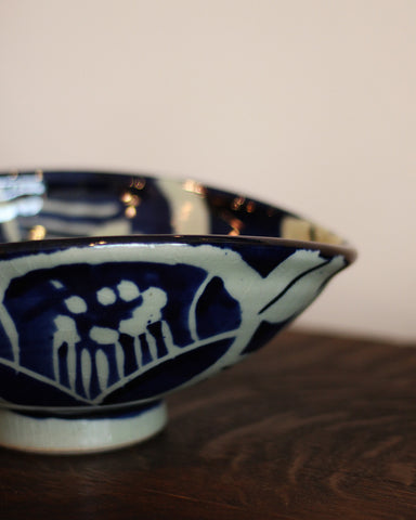 Mashiko-Yaki Hand-painted Large Bowl