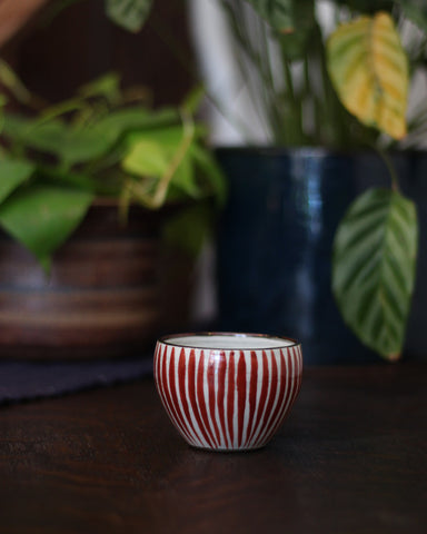 Arita-Yaki Red Stripe Cup