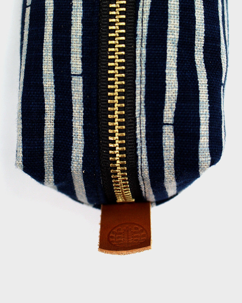 Pencil Pouch, Bamboo Horizontal Stripes