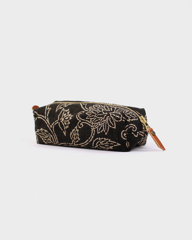 Pencil Pouch, Brown Katazome