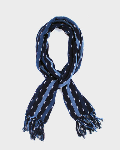 Karu-Ori Blue Stripes and Dash Scarf