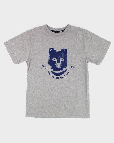 Printed Kuma 9oz Tee, Gray