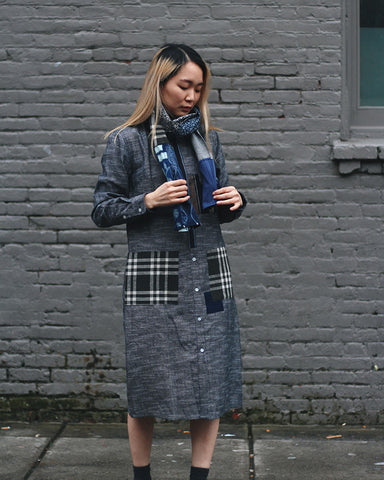 Bridge & Burn x Kiriko Hitotsu, Women's Plaid Patches Dress