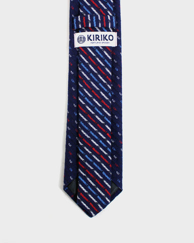 Tie Kasuri-Ori Red White Blue