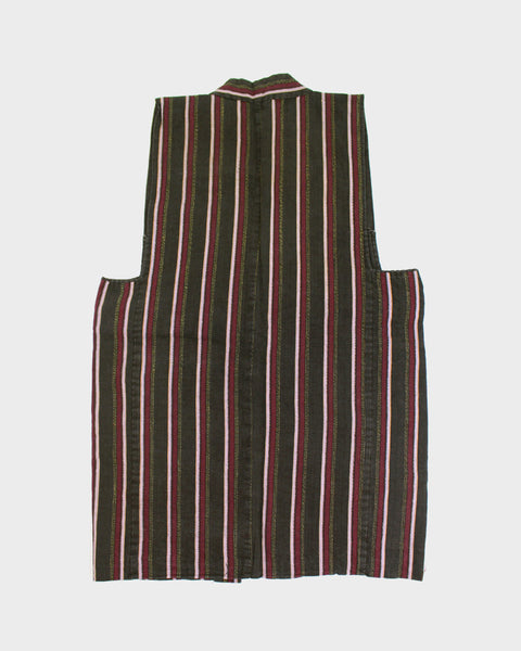 Vintage Vest, Red Stripes