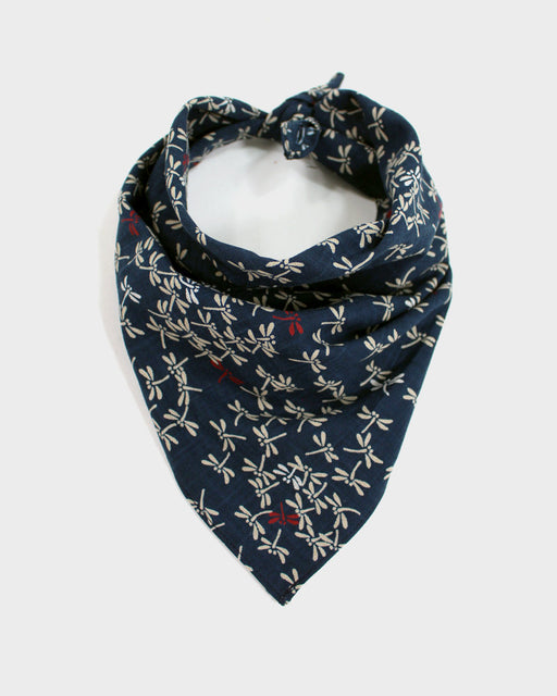 Bandana Indigo Tonbo with Red