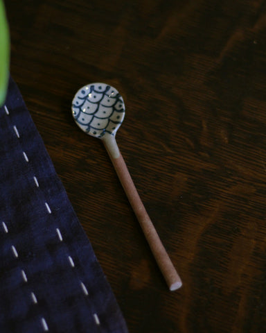 Mashiko-Yaki Hand-Painted Spoon, Scales