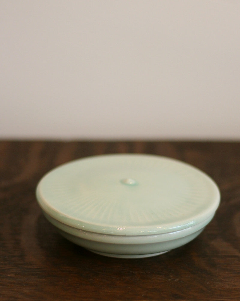 Kelly Pottery, Salt Cellar Celadon