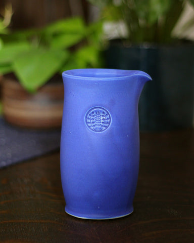 Kelly Pottery, Tall Matte Blue Ceramic Coffee Pot
