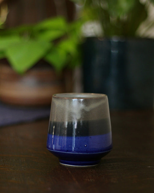 Kelly Pottery, Yunomi Dipped Dark Blue