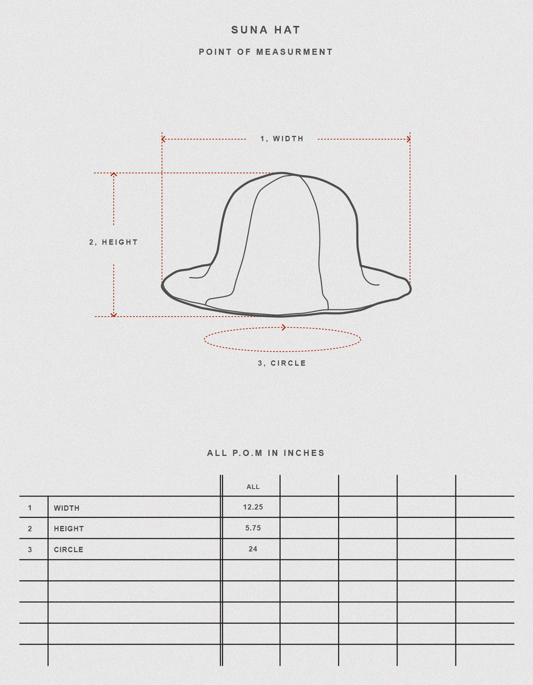 Prospective Flow, Suna Hat Natural