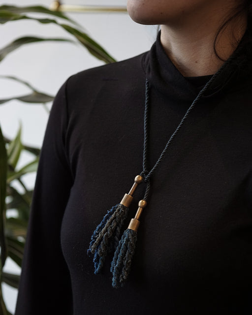Boet X Kiriko Yanagi Necklace, Shades of Indigo