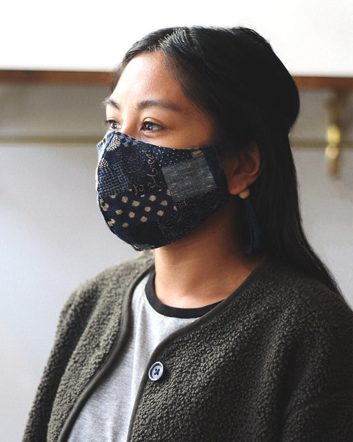 Face Mask - Multi Patchwork Style (Adjustable Cord) Five Pattern Options
