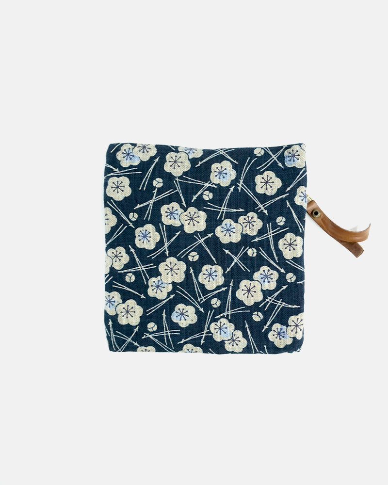 Flat Small Zipper Pouch, Pine and Plum