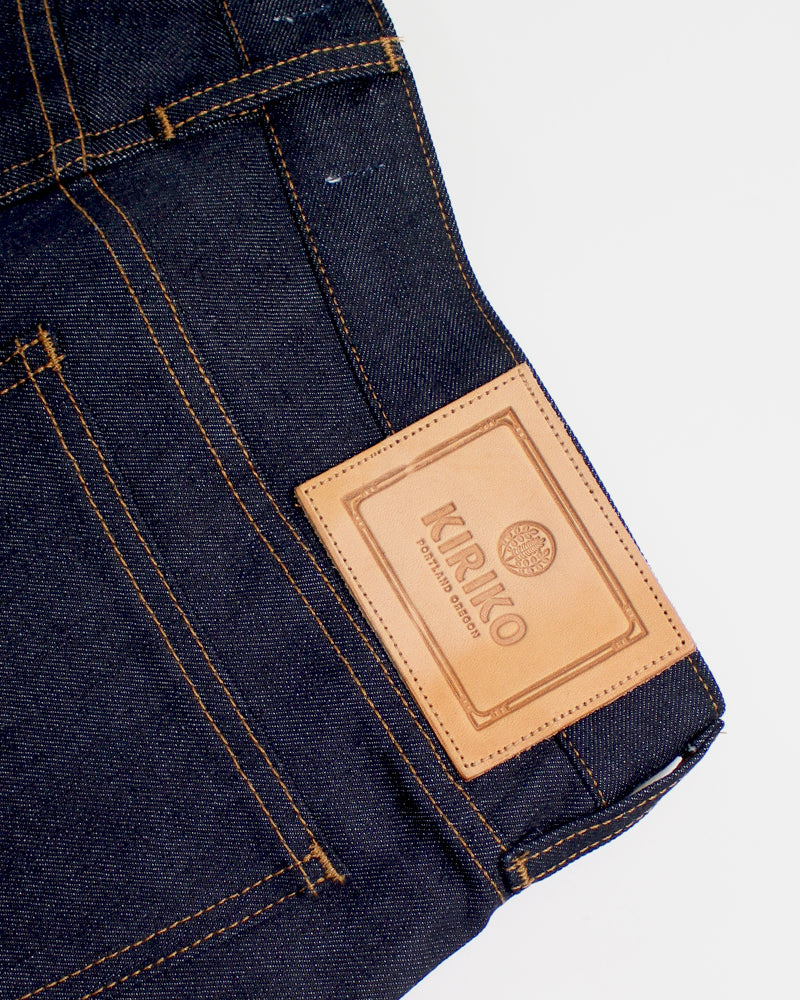 Premium Selvedge Raw Denim Jeans, Mens, Seigaiha