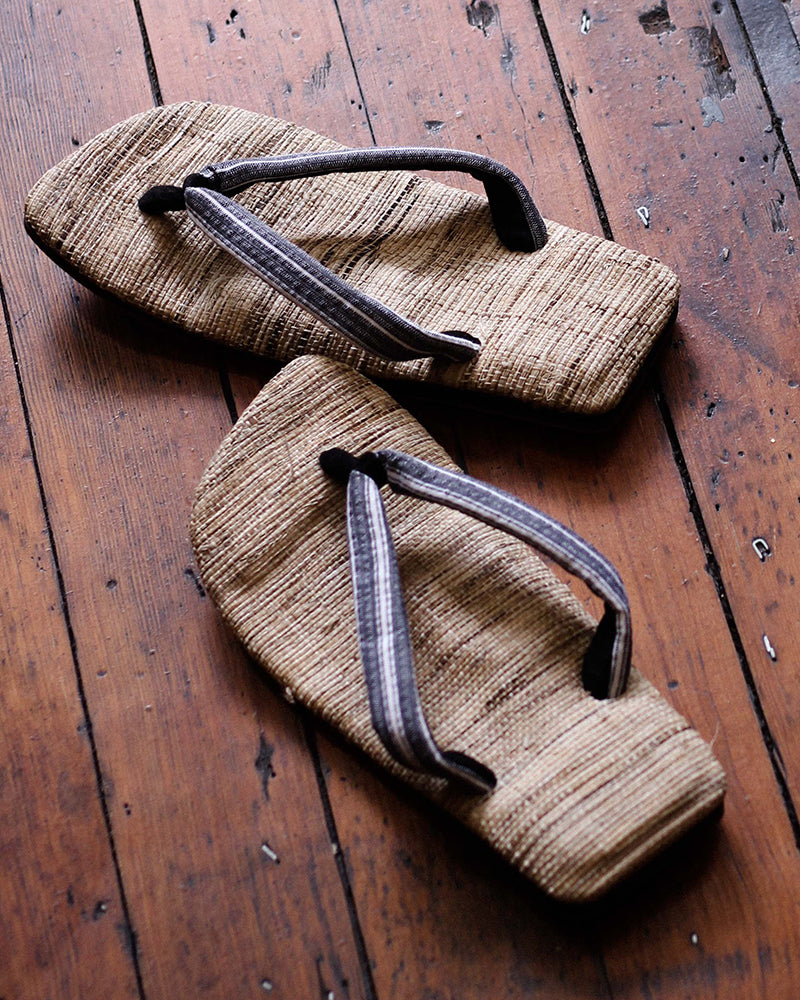 Setta Sandals with Light Grey Stripes