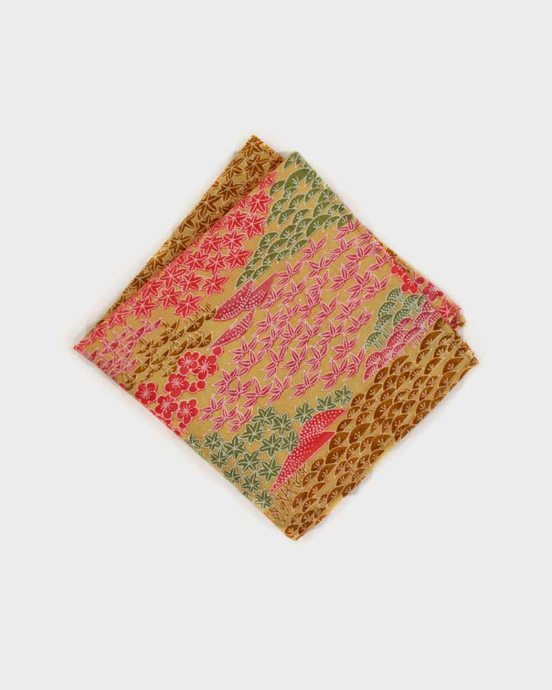 Pocket Square, Colorful Matsu & Bamboo