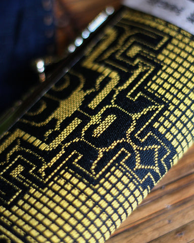 Ainu Small Clutch, Black and Yellow