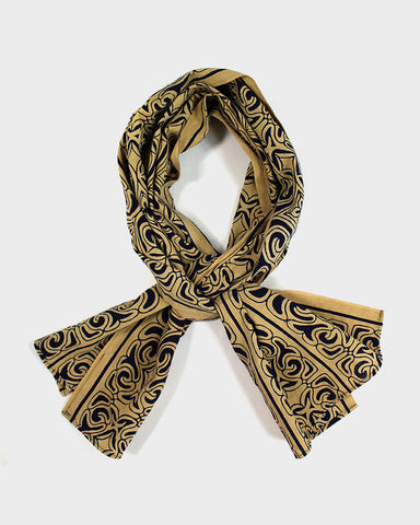 Ainu Scarf, Yellow and Black
