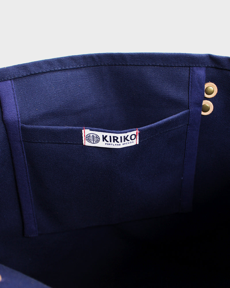 Ainu Canvas Tote, Navy