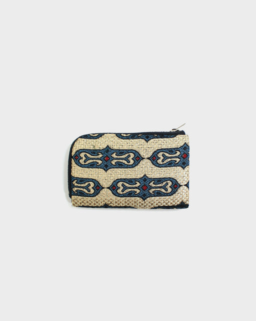Ainu Wallet, Cream and Blue