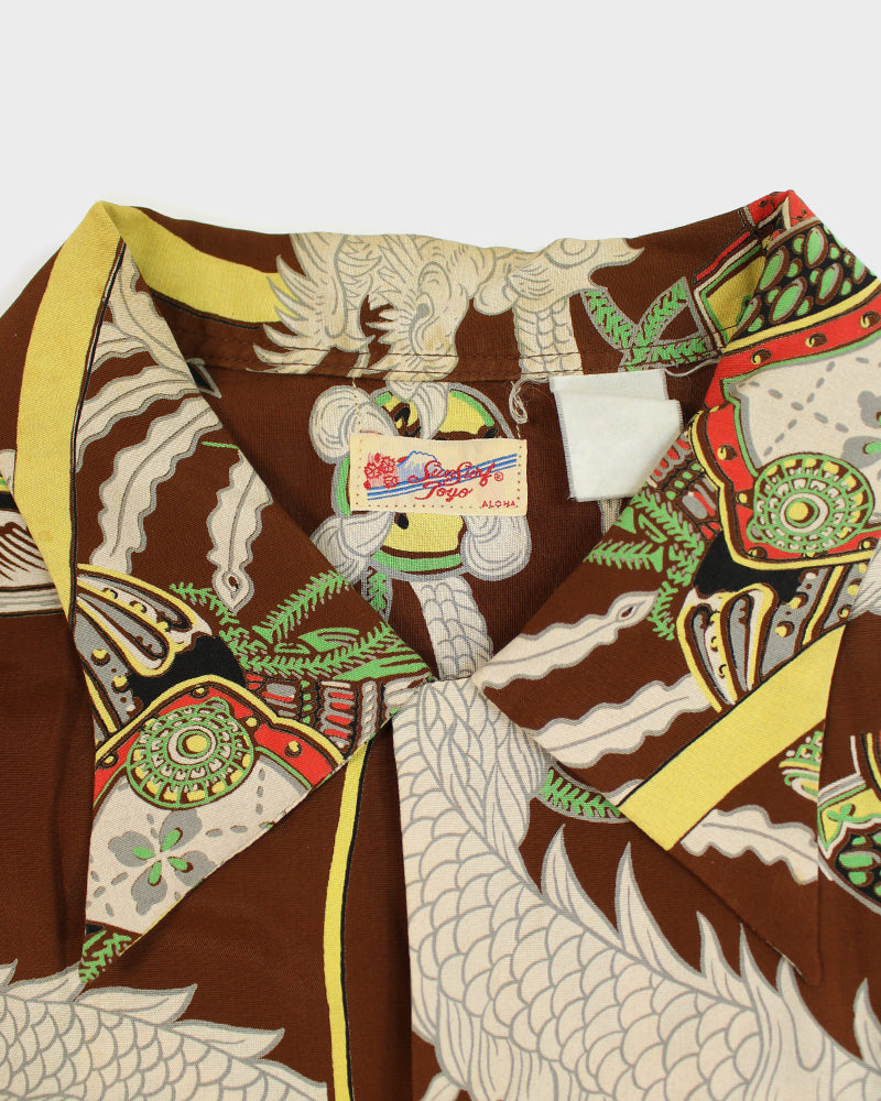 Sun Surf Aloha Shirt, Dragon and Scroll
