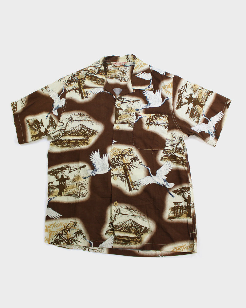 Honolulu Taste of Hawaiian, Aloha Shirt, Brown, Magamo