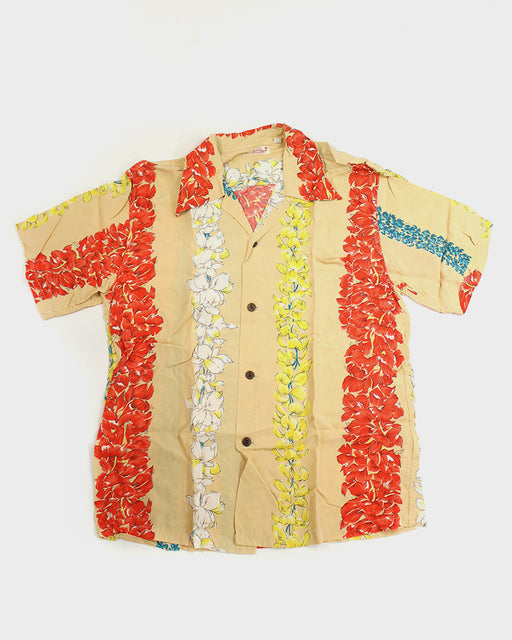 Avanti Aloha Shirt, Orange and Yellow Hibiscus