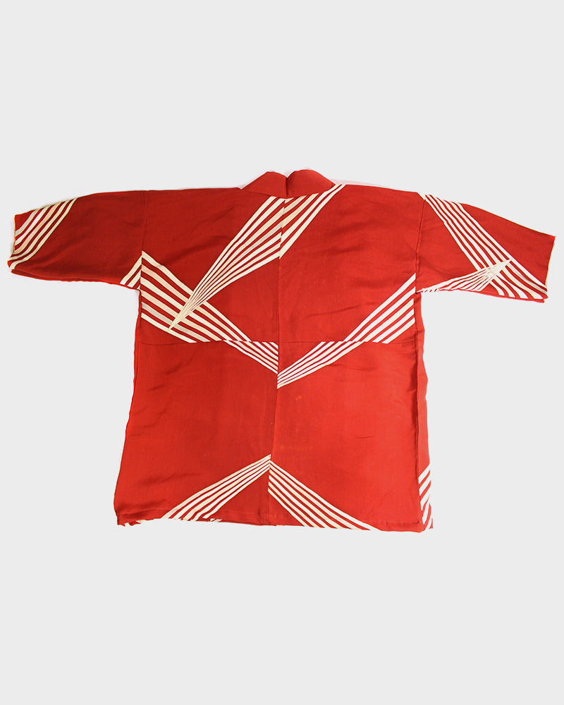 Altered Kimono Jackets, Red with White Stripes