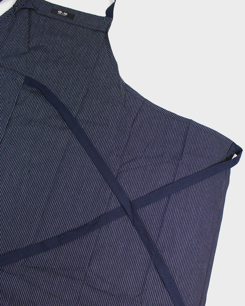Japanese Cafe Apron, Indigo, Thin Shima