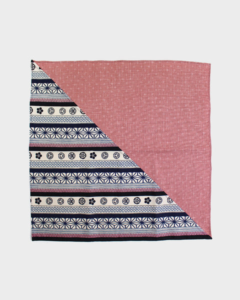 Bandana Pink Kagasuri and Multi Pattern Split