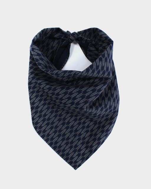 Bandana, Indigo and Cream Yagasuri