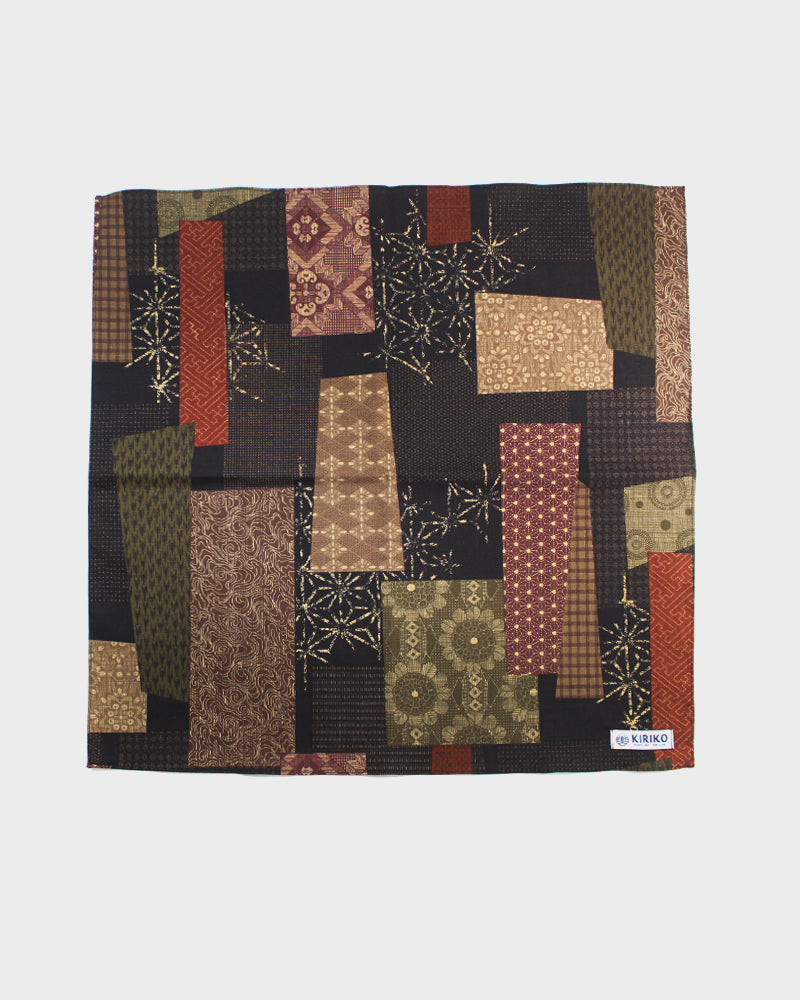 Bandana, Brown Patchwork Style