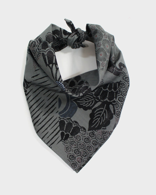 Bandana, Grey Multi-Kiku